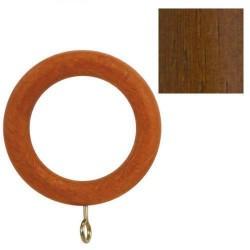 Anilla madera lisa c/h.29x45mm nogal