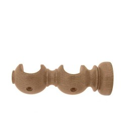 Soporte madera liso abto.do.20x118mm pin