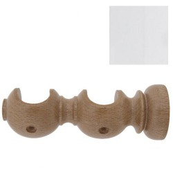 Soporte madera liso abto.do.20x118mm blc