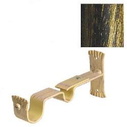 Soporte doble forja 28-20 negro/dorado