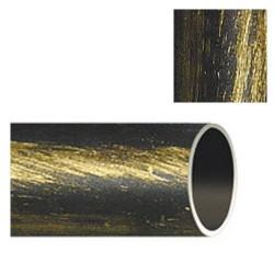 Barra hierro forja 28mm x2,00mt neg/dor
