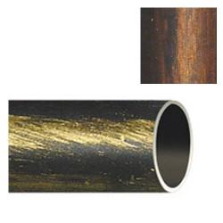 Barra hierro forja 28mm x2,00mt neg/cobr