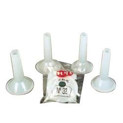 Jgo.embudos plast.p/maquina 32 (4 pzas)
