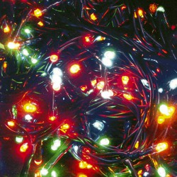 Luces navid.100 leds colores interior
