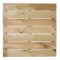 Loseta madera autoclave 50x50cm