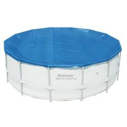 Pisc.cobertor piscina est.met.ø 427cm