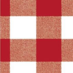 Mantel hule rollo 140cmx20m cuadros rojo