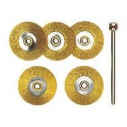Cepillos de acero en forma de rueda Proxxon