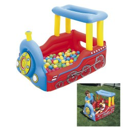 Centro juegos tren + pelotas137x99x94cm