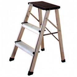 Escalera Aluminio Reforzada 3 Peldaños Taburete Altipesa
