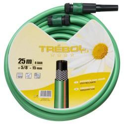 Tubo verde trebol trenz. 15mmro.25mt+acc