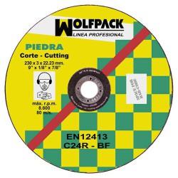 Disco wolfpack piedra 230x3,2x22