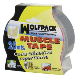 "Cinta americana ""muscle"" gris 48mmx25mt"