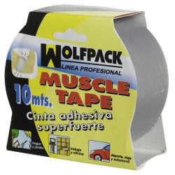 "Cinta americana ""muscle"" gris 48mmx10mt"