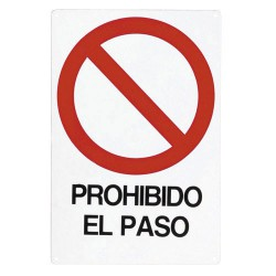 Cartel prohibido el paso 30x21