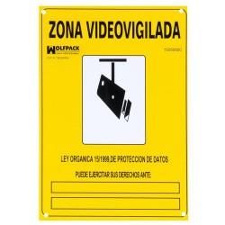 Cartel zona videovigilada 30x21