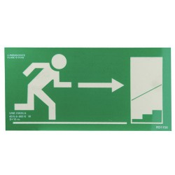Cartel salida escalera dcha.arriba 21x30