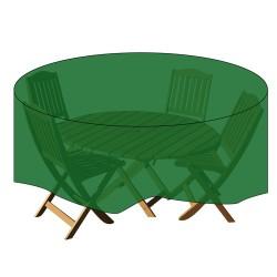Funda cubre mesa/conjunto diam.150x90cm