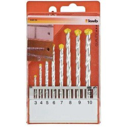 Set Brocas KWB para Piedra 3-10 MM.