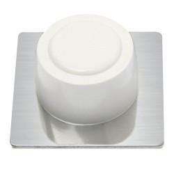 Tope puerta adhesivo blanco