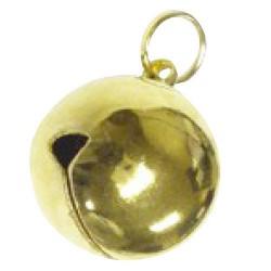 Cascabel dorado  17 mm.  (bolsa 100u)