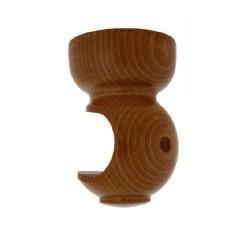 Soporte madera liso techo.28x82mm nogal