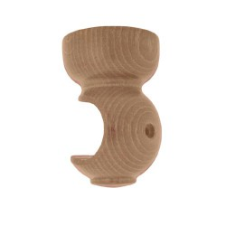 Soporte madera liso techo.20x 68mm pino