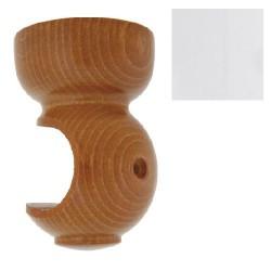 Soporte madera liso techo.20x 68mm blanc