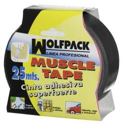"Cinta americana ""muscle""negro 48mmx25mt"