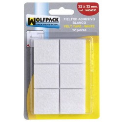 Fieltro adhesivo 32x32mm (bl.12p)blanco