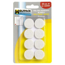 Fieltro adhesivo ø25mm (bl.16pz)blanco