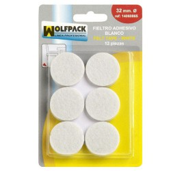 Fieltro adhesivo ø32mm (bl.12pz)blanco