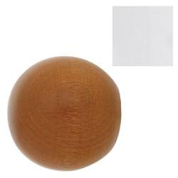 Terminal madera esfera 20x40mm blanco