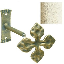 Recoge-cortinas forja marf/oro cruz 15cm