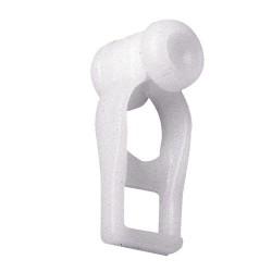 Corredera simpl p/riel alum.p-950 blanco