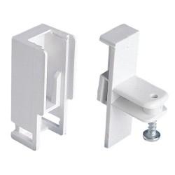 Soporte lateral p/riel alum.p-900 blanco