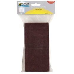 Fieltro adhesivo 1mt x 85mm blist marron