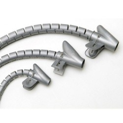 Organizador cables+clip gris 15mm 2,5mts