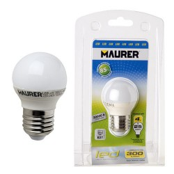 Bombilla led esfer.e27 4w -25w lumen 300