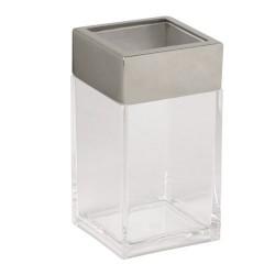 Vaso baño maurer.acrilico-inox transp.