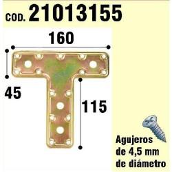 "Soporte p/madera placa ""t"" bic. 160 mm"