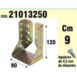 Soporte p/madera alas inter.bicrom. 90mm