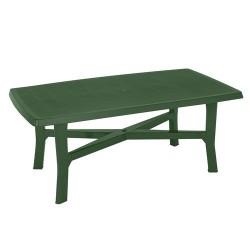 Mesa resina verde 180x100cm