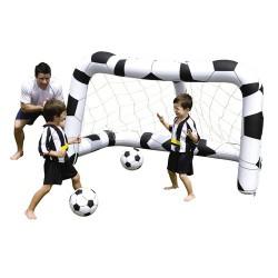 Flot.porteria futbol + 2 pelotas