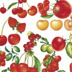 Mantel hule rollo 140cmx20m frutas rojas