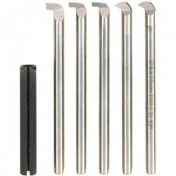 Juego de cuchillas HSS para rosca interior, libre y calados (6 unidades)