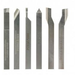 Juego de 6 cuchillas HSS para PROXXON FD 150/E