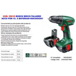 Taladro Atornillador Bosch ACCU PSR 12,0+2 Baterias