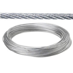 Cable galv. 6mm(ro 25mt) no elevacion