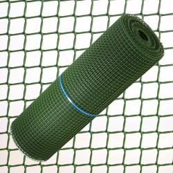 Tela cuad plas 1,0cm.x1mt verde ro 25mt